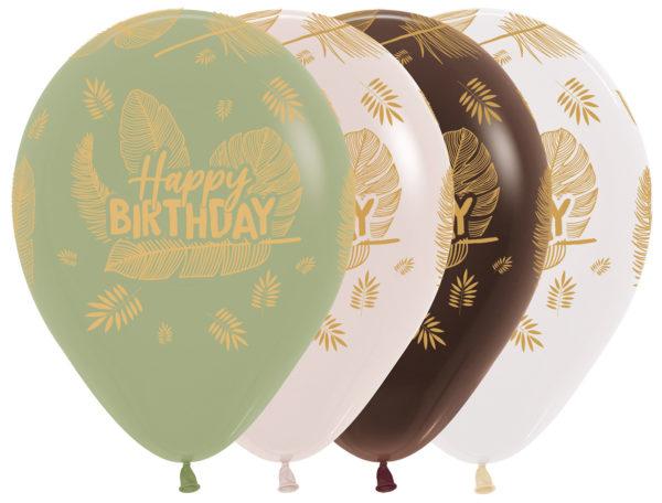 Sempertex Happy Birthday Leaves w Balonolandia