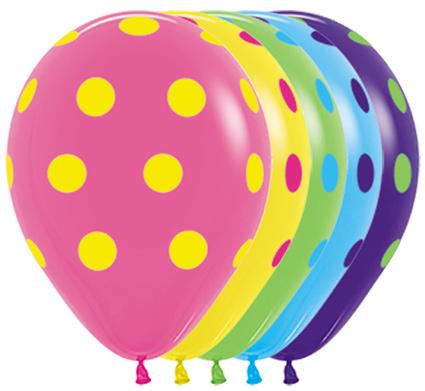 Sempertex colored dots w Balonolandia