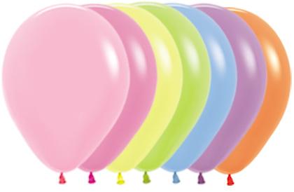 """R12 200R balon okrągły 12"""" miks kolorów neonowych 12x12 Sklep Balonolandia"""