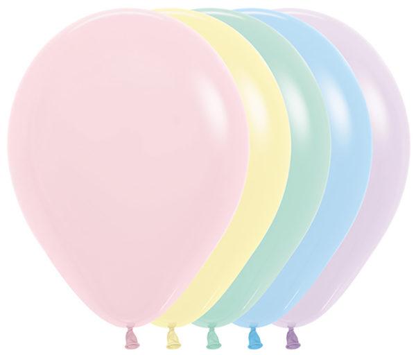 """R12 600R balon okrągły 12"""" miks kolorów pastelowych 12x12 Sklep Balonolandia"""