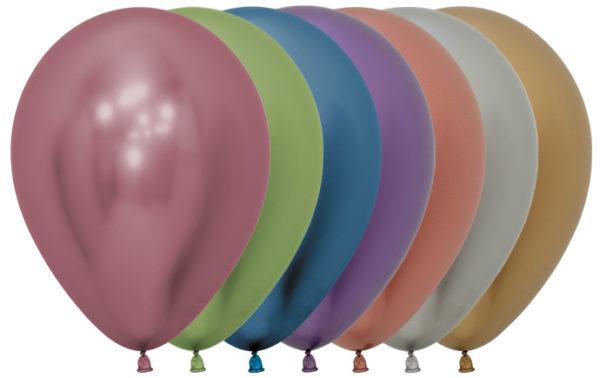 """R12 900R balon okrągły 12"""" miks kolorów Reflex 12x12 Balonolandia 4Pro"""