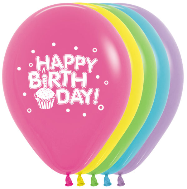 "R12 HBCCR balon okrągły 12"" Happy Birthday 12x12  Sklep Balonolandia"