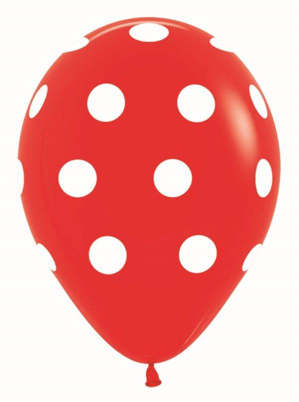 R12 PD015 Groszki - czerwony Balonolandia 4Pro