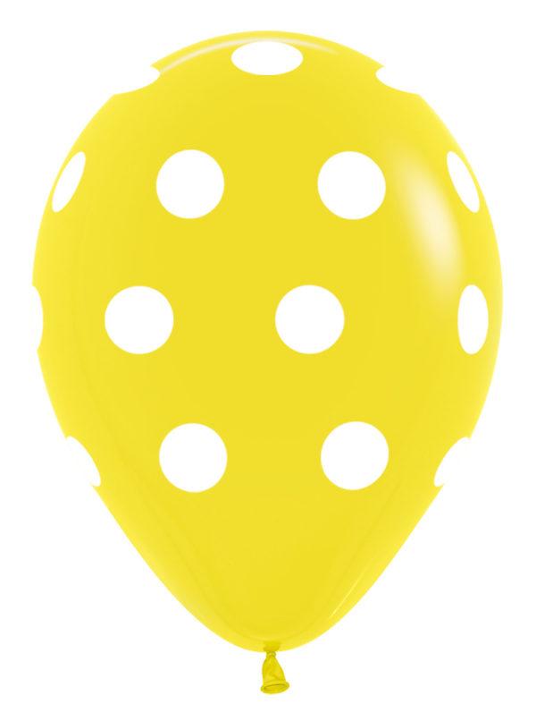 R12 PD015R Groszki - żółty Sklep Balonolandia