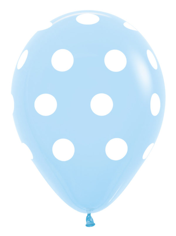 R12 PD039R Groszki - błękitny  Sklep Balonolandia