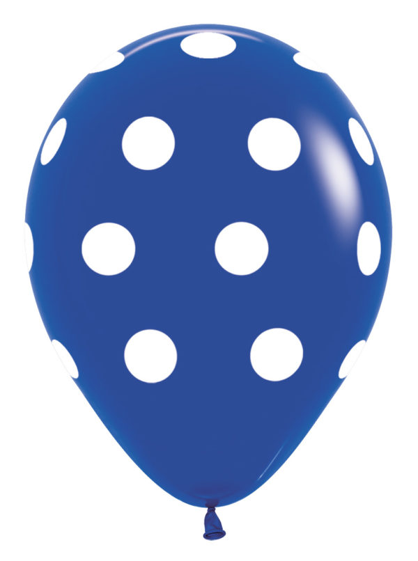 R12 PD041 Groszki - granatowy Balonolandia 4Pro