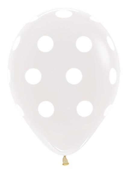 R12 PD390 Polka Dots Clear Sklep Balonolandia