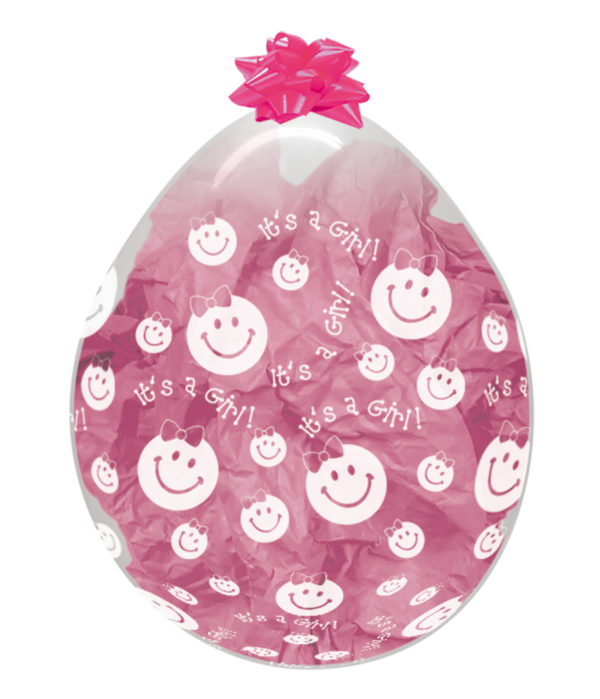 "R18 GIRL - balon transparentny 18"" It's a Girl do stuffera Sklep Balonolandia"