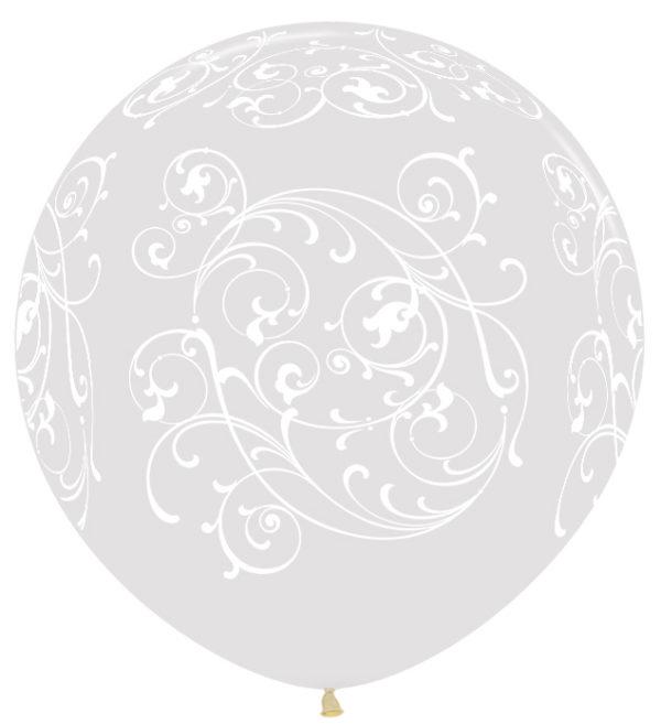 "R36 FILI390 balon okrągły 36"" Filigran transparentny Sklep Balonolandia"