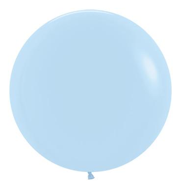 Balon okrągły 24 błękitny Pastel Matte