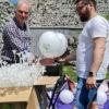 balon lateksowy z dwukolorowym nadrukiem